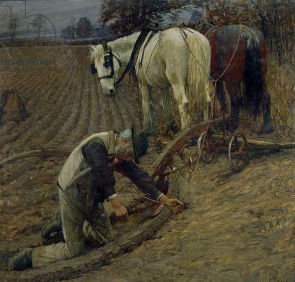 The Last Furrow, 1895 (oil on canvas)