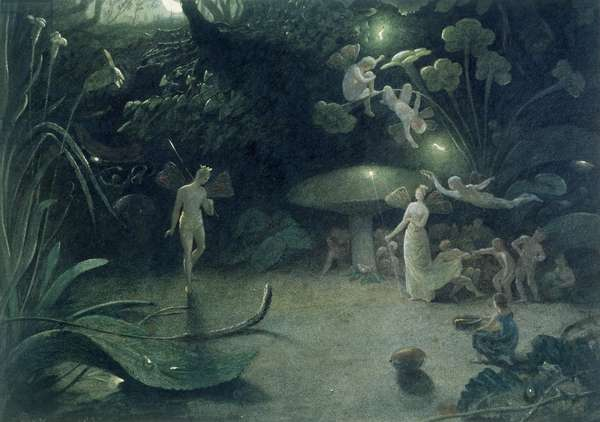 Scene from 'A Midsummer Night's Dream', 1832 (w/c on paper)