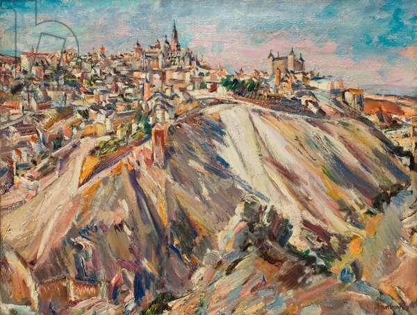 Toledo and the River Tajo, 1929 (oil on canvas)
