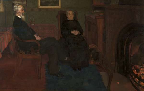 My Father and Mother, 1884 (oil on canvas)