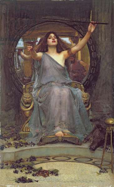 Circe Offering the Cup to Ulysses, 1891 (oil on canvas)