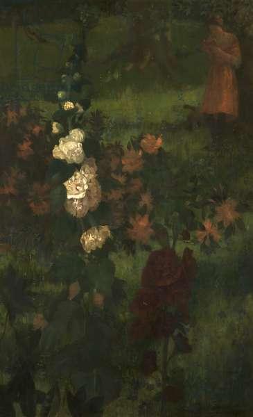 Hollyhocks (A Fairy Tale) 1890 (oil on canvas)