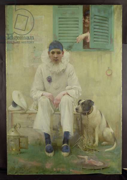 Pierrot (oil on canvas)