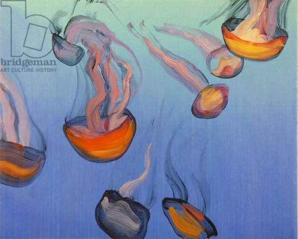 Méduses 15, 2013 (acrylic on canvas)