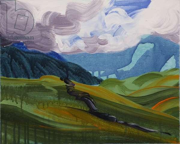 Leukerbad 26, 2014 (acrylic on canvas)