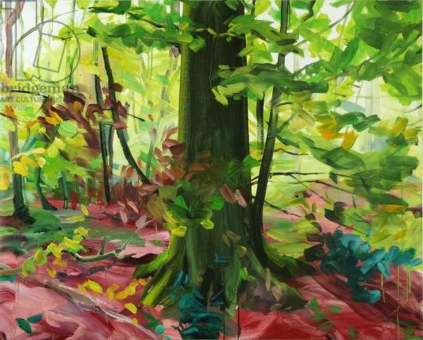 Forêt 3 ,2014 (acrylic on canvas)