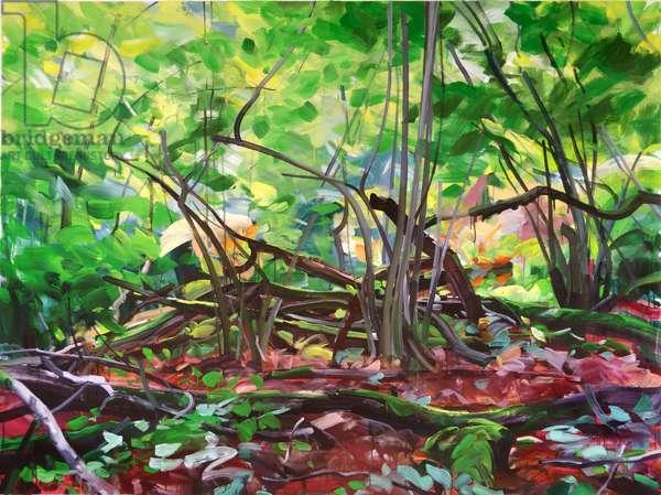 Forêt 12 ,2015 (acrylic on canvas)