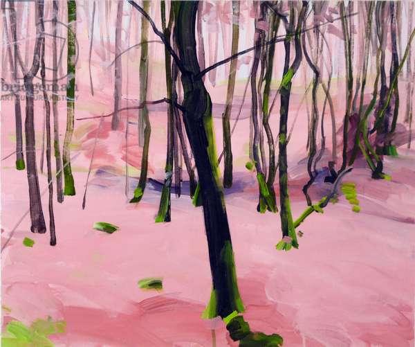 Forêt 30 ,2017 (acrylic on canvas)