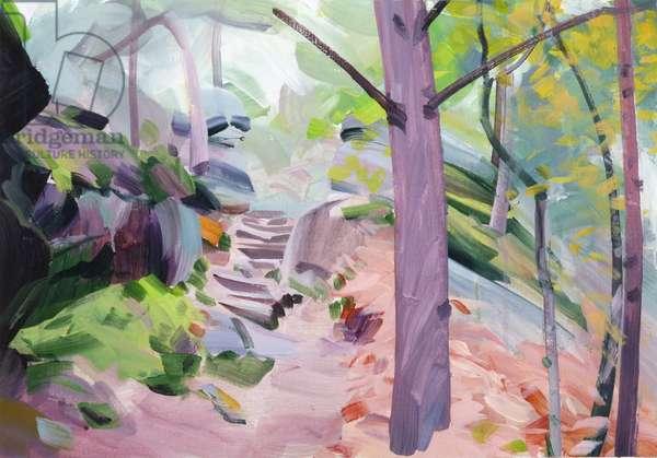 Forêt 33 ,2018 (acrylic on canvas)