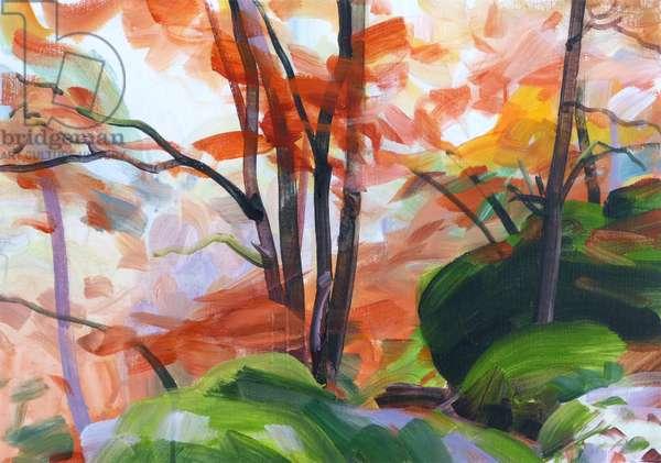 Forêt 34 ,2018 (acrylic on canvas)