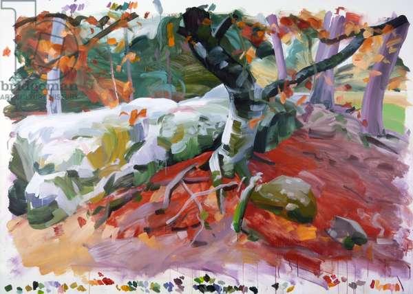 Forêt 36 ,2018 (acrylic on canvas)
