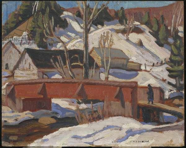 The Bridge, Petite Rivière, c.1928 (oil on wood)