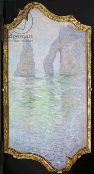 Étretat, L'Aiguille et la Porte d'Aval, 1885-86 (oil on panel)