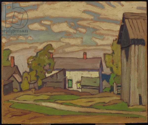 Village of Alton, 1929 (oil on pulpboard)