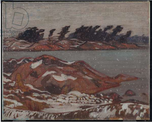 First Snow, Georgian Bay, c.1920 (oil on canvas)