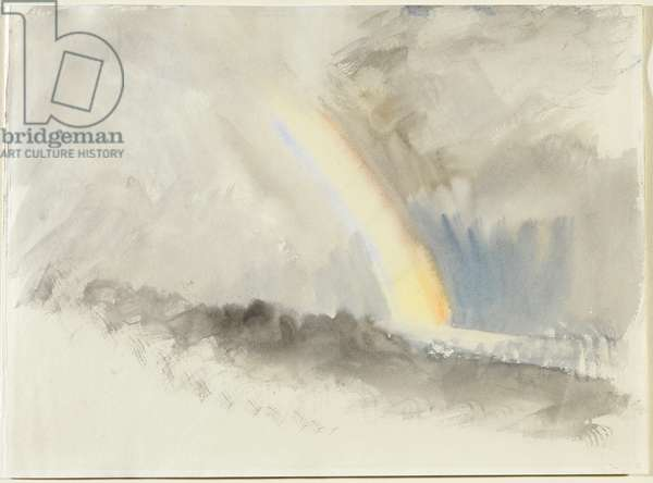 Stormy Landscape with a Rainbow, c.1824 (w/c on paper)