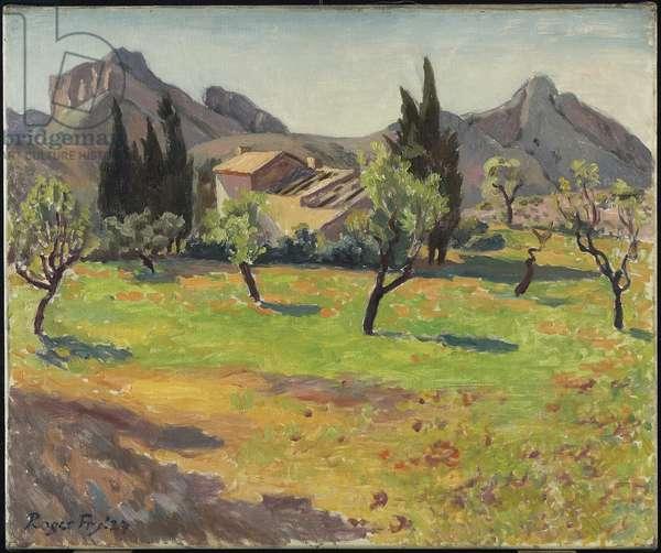 Le Mas de Berne pres St. Remy, Provence, 1927 (oil on canvas)