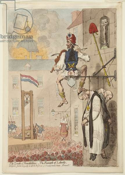 The Zenith of French Glory, 1793 (hand-coloured etching)
