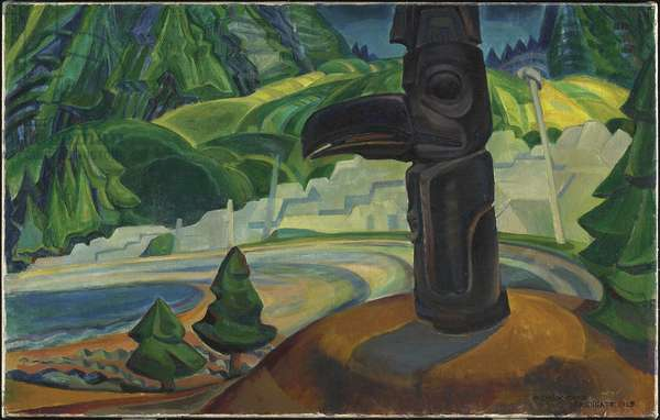 Skidegate, Graham Island, British Columbia, 1928 (oil on canvas)