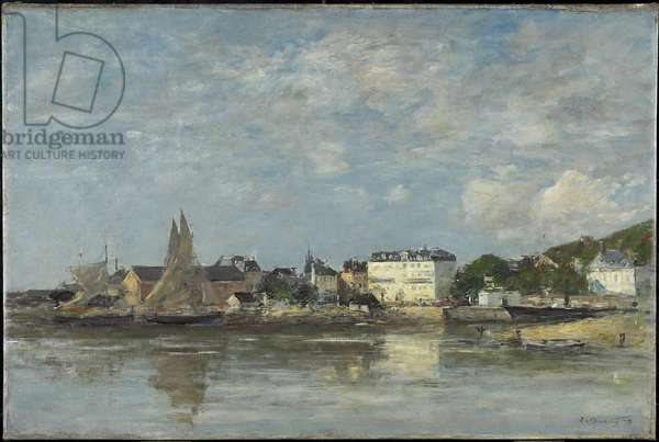 View of the Harbour at Trouville, 1878 (oil on canvas)