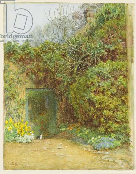 The Dairy Door, Farringford, Lord Tennyson's Home, c.1890 (w/c, gum arabic & scraping out on wove paper)