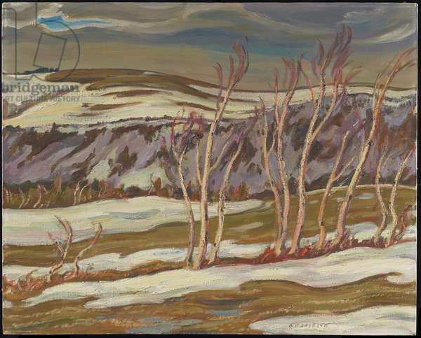 April Day, Ste. Marthe, Gaspe, 1953 (oil on canvas)