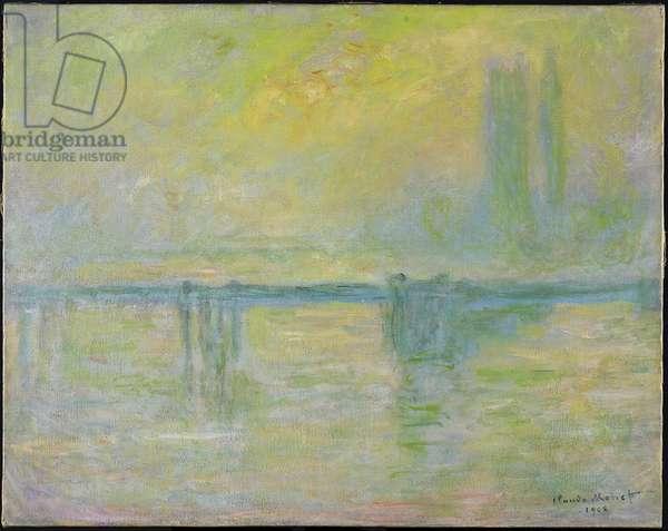 Charing Cross Bridge: Fog, 1902 (oil on canvas)