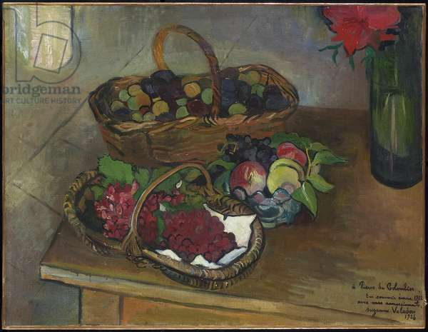 Still Life: Fruit and Flowers, 1926 (oil on canvas)