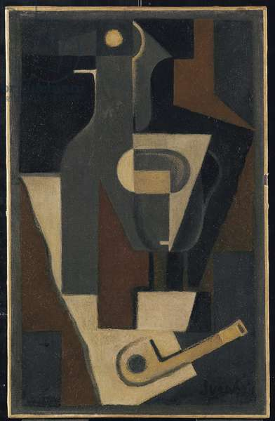 Still Life with Pipe, 1918 (oil on canvas)