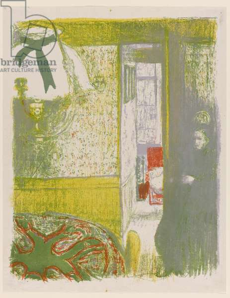 Interior with Hanging Lamp, pl.4 from Landscapes and Interiors, 1899 (colour litho)