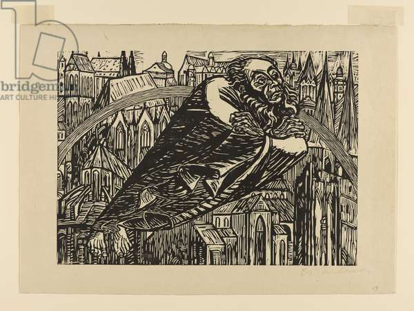 Die Dome, 1922 (woodcut on beige-coloured wove paper)