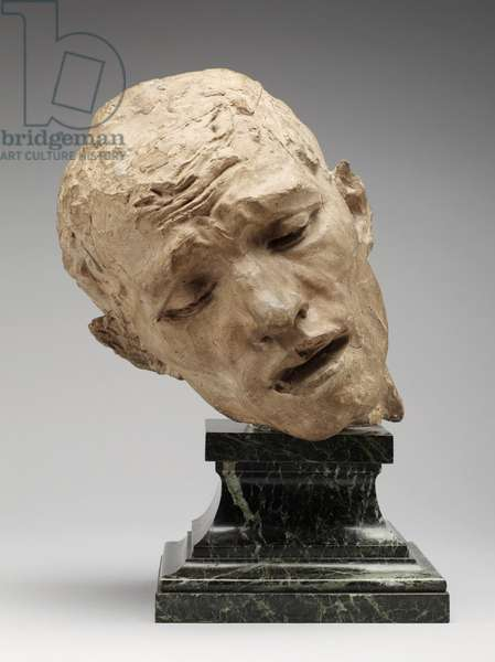 Head of Pierre de Wiessant, c.1885; cast c.1912 (tinted plaster mixed with clay and sand)
