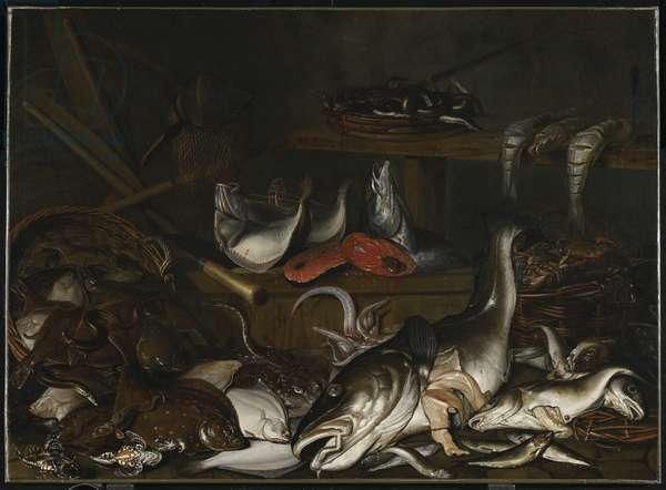 Still Life: Fish (oil on canvas)