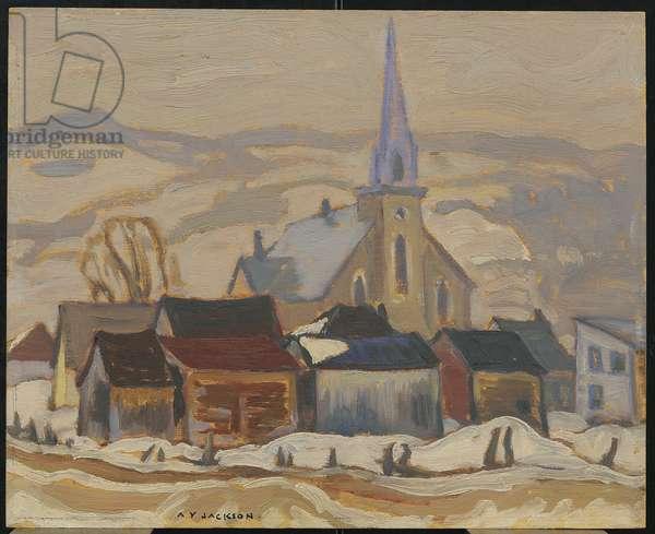 St. Urbain, Quebec, c.1930 (oil on canvas)