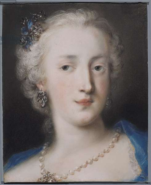 Portrait of a Woman, early 18th century (pastel on blue laid paper)
