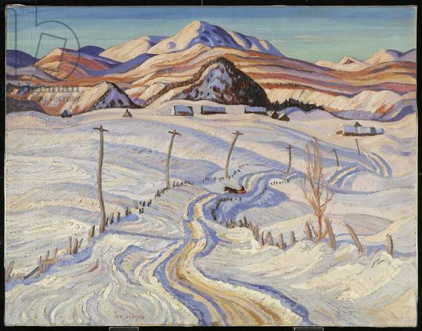 Winter, Charlevoix County, 1933 (oil on canvas)
