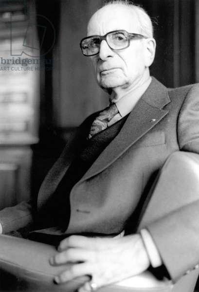 Portrait of Claude Levi-Strauss (Levi Strauss) - August 1981