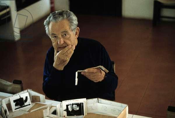 Portrait du peintre Hans Hartung (1904-1989), 1979.