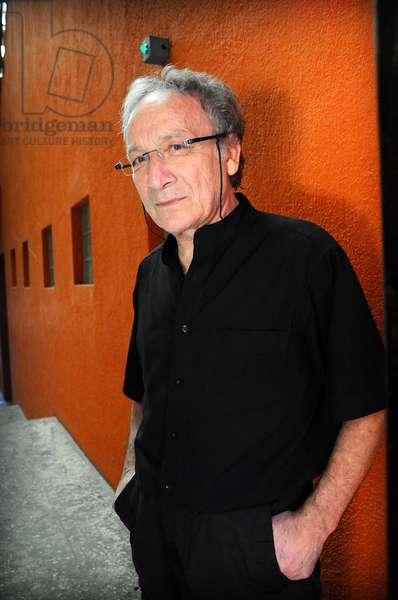 Portrait of the French artist Ernest Pignon Ernest. January 2012.