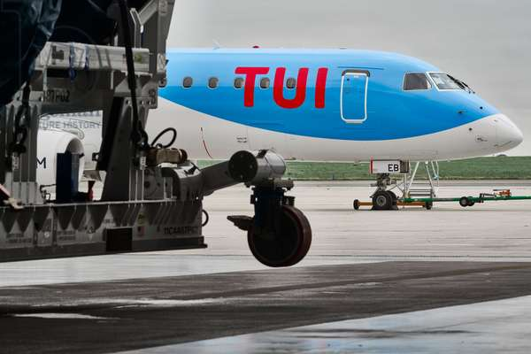 Brussels Airport, aircraft from the Tuifly airline 27/08/2018