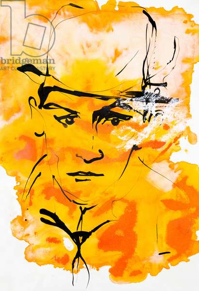 Portrait de Franz Kafka (1883-1924), ecrivain tcheque, de langue allemande - dessin de Ewa KLOS