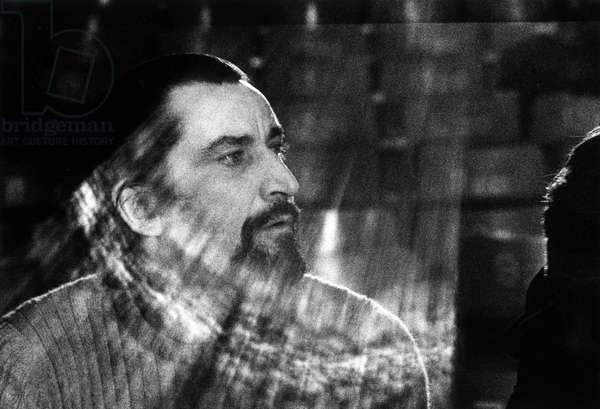 Portrait du choregraphe Maurice Bejart a Paris en 1972.