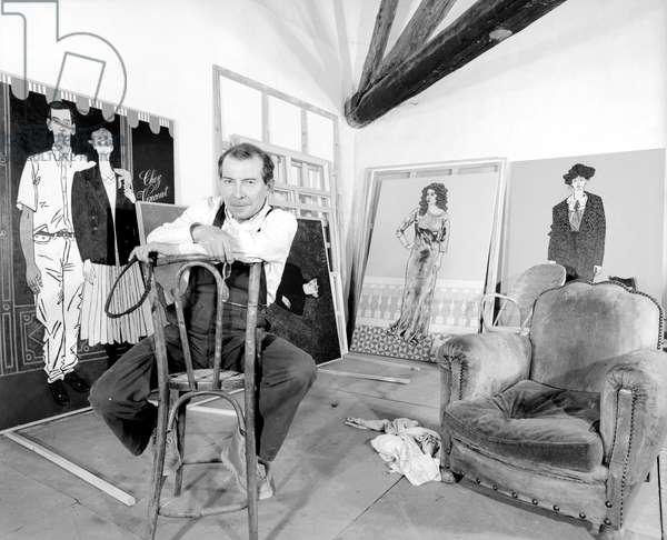 Vincent Bioules at his place 1987