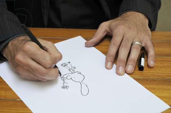 Les mains de Philippe CHAPPUIS, dit ZEP - Date: 20080613