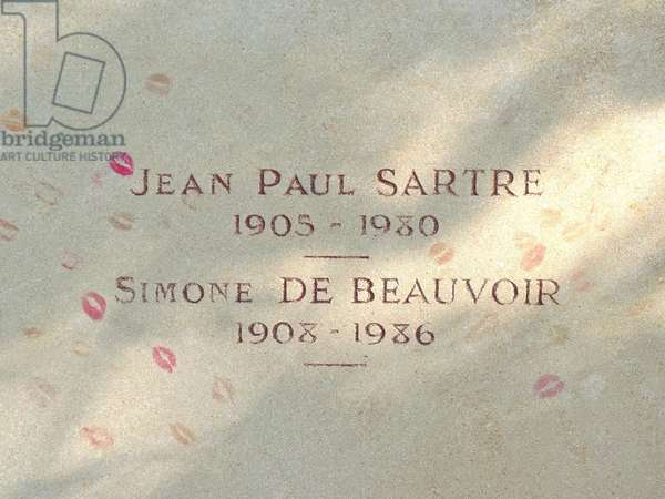De BEAUVOIR Simone et SARTRE Jean Paul (Tombe) - Date: 00000000