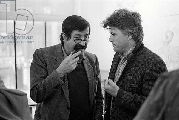 Portrait of Gunter Grass and John Irving, March 1983
