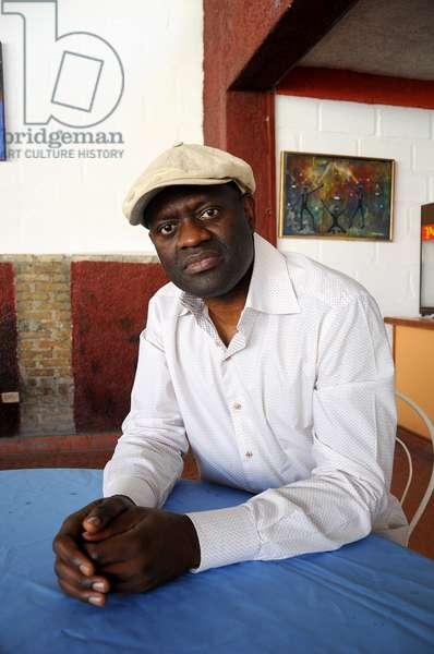 Portrait of the writer Alain Mabanckou. January 2012.