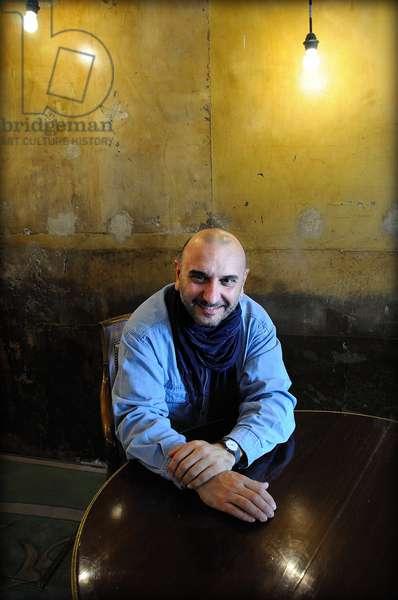 Portrait of the Italian writer and journalist Francesco de Filippo. October 2011.