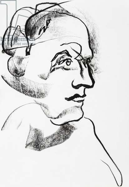 Portrait du marquis Donatien Alphonse Francois de Sade (1740-1814), romancier et philosophe francais - dessin de Ewa KLOS