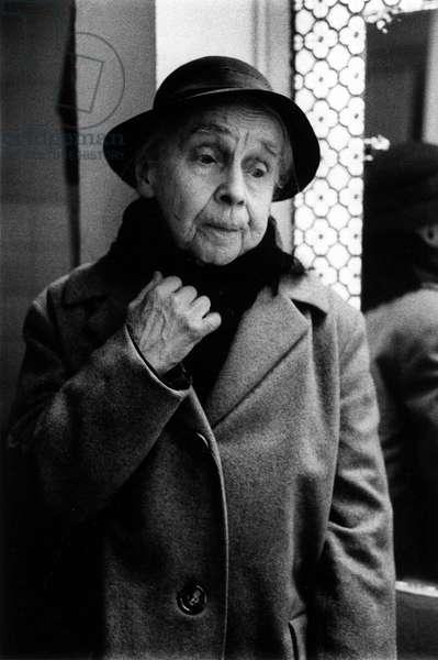 Portrait de Aimee Liore (1881-1968), auteur du catalogue raisonne de l'oeuvre grave de Andre Dunoyer de Segonzac, a Paris en 1962.